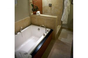 Marlie Beauty white tub in a bathroom
