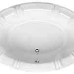 Alyssa Designer Collection Oval Whirlpool Bathtub