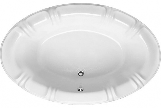 Alyssa Designer Collection Oval Whirlpool Bathtub