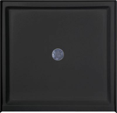 Download Image: Square Shower Pan   Black