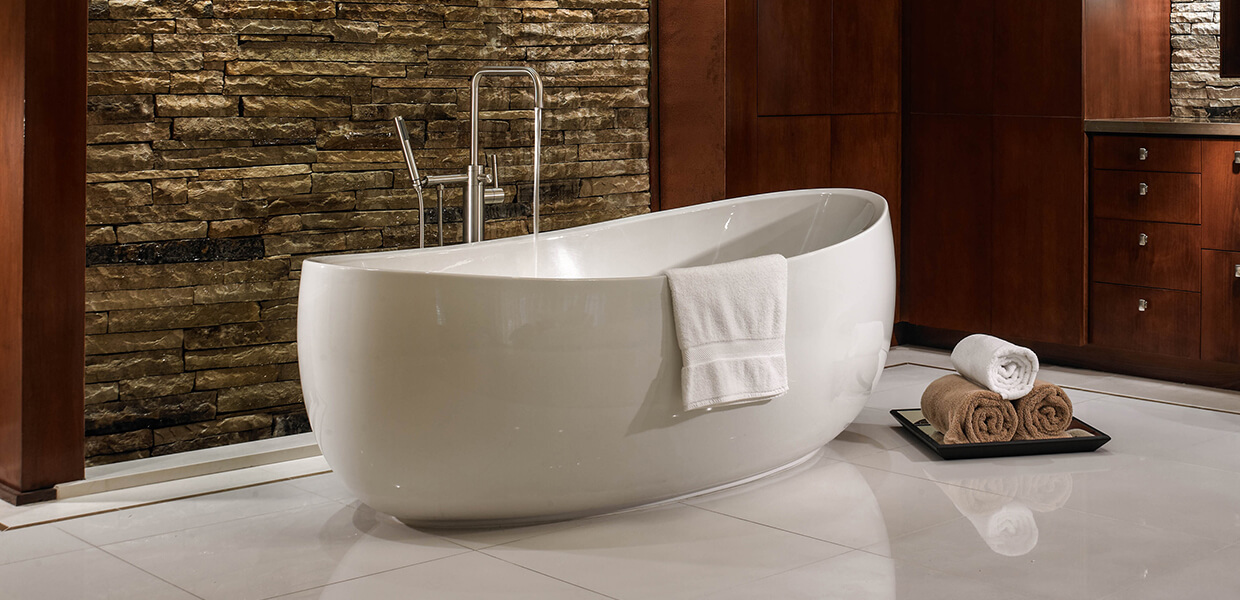 Picasso freestanding bathtub hydrosystems for Bathtub for tall people
