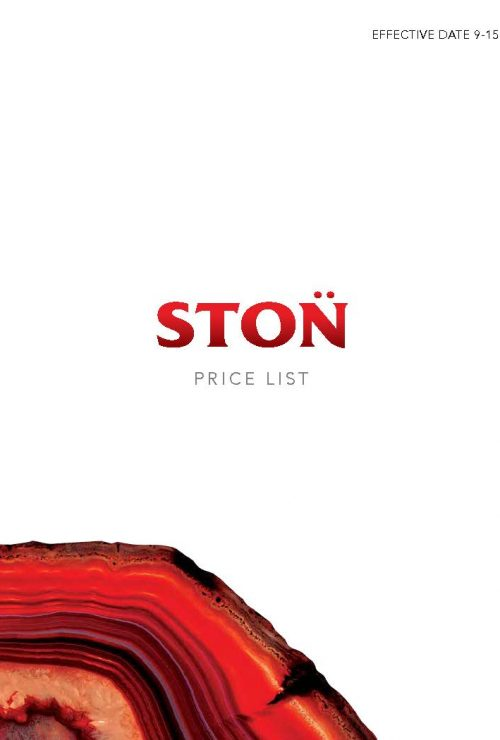 STON Price List 9-15 picture