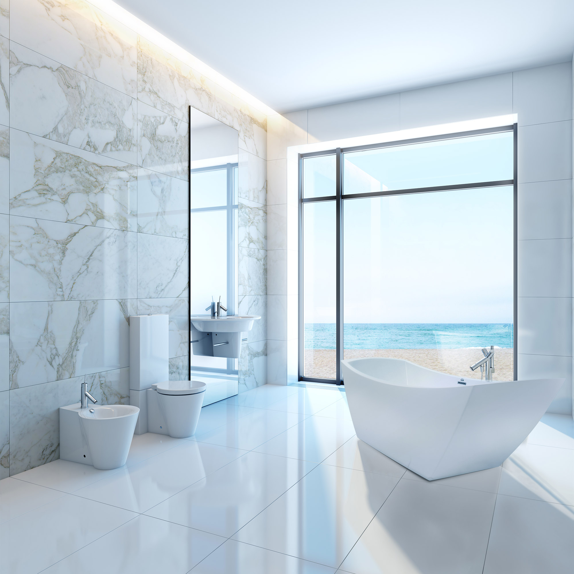 mosaic wet d img sparkle bath mixed effect wall gallery waterfall modern with grey shaped photo white around a bathtub