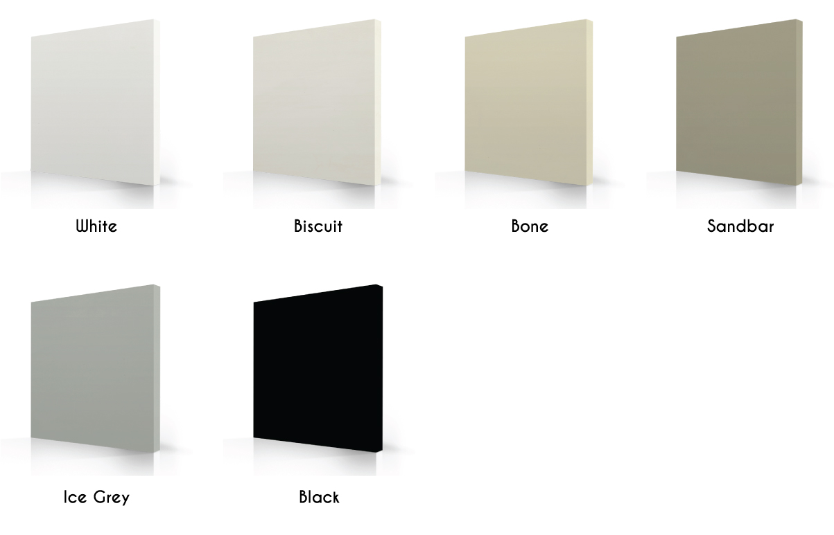 tub acrylic colors shades of white, grey and black