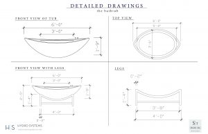 Shani Tal's Detailed Drawings a tub