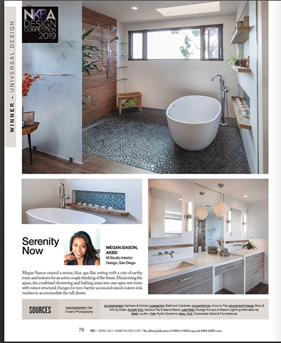 screenshot of a magazine featured Hydro system's bathtubs
