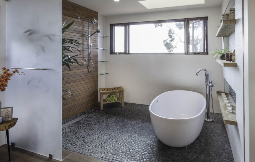 NKBA National Design Award Winner, M Studio Interior Design – Featuring Alamo Freestanding Tub