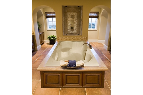 makayla beauty white tub in a bathroom