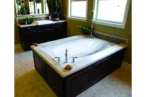 ovation beauty tub in a bathroom